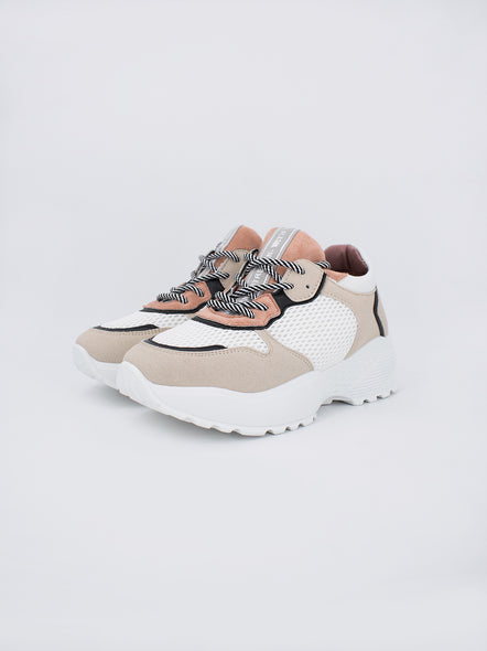 Zapatillas Abby Blanco y Beige