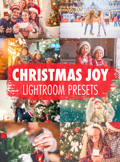 10 Christmas Joy Lightroom Presets - Mobile & Desktop