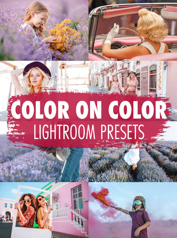 10 Color On Color Lightroom Presets - Mobile & Desktop
