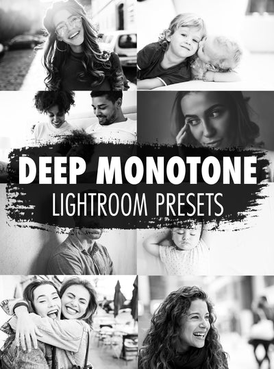 10 Deep Monotone Lightroom Presets - Mobile & Desktop