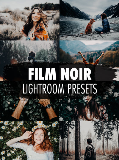 10 Film Noir Lightroom Presets - Mobile & Desktop