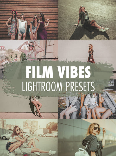 10 Film Vibes Lightroom Presets - Mobile & Desktop