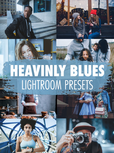 10 Heavenly Blues Lightroom Presets - Mobile & Desktop