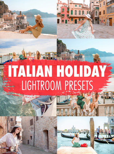 10 Italian Holiday Lightroom Presets - Mobile & Desktop