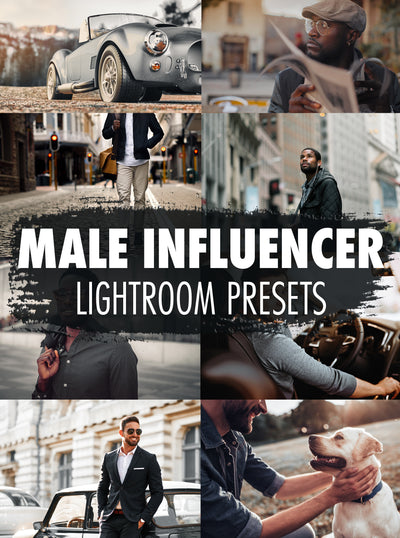 10 Male Influencer Lightroom Presets - Mobile & Desktop
