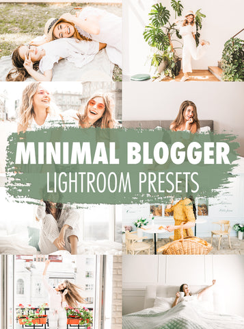 10 Minimal Blogger Lightroom Presets - Mobile & Desktop