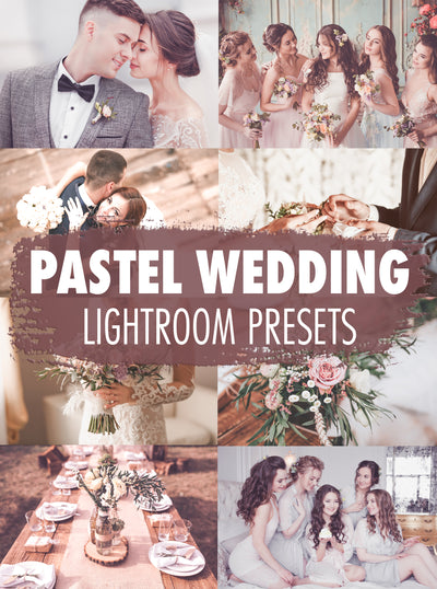 10 Beautiful Pastel Wedding Lightroom Presets - Mobile & Desktop