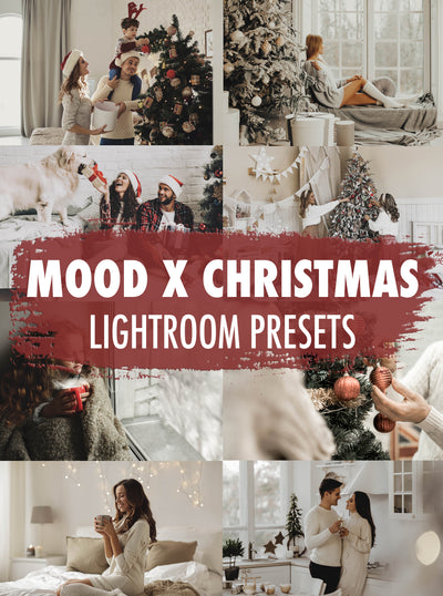 10 Mood x Christmas Lightroom Presets - Mobile & Desktop