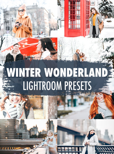 10 Winter Wonderland Lightroom Presets - Mobile & Desktop