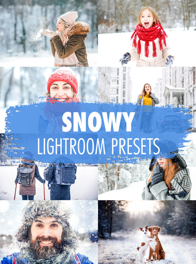 10 Snowy Lightroom Presets  - Mobile & Desktop