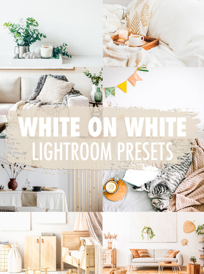 10 White On White Lightroom Presets - Mobile & Desktop