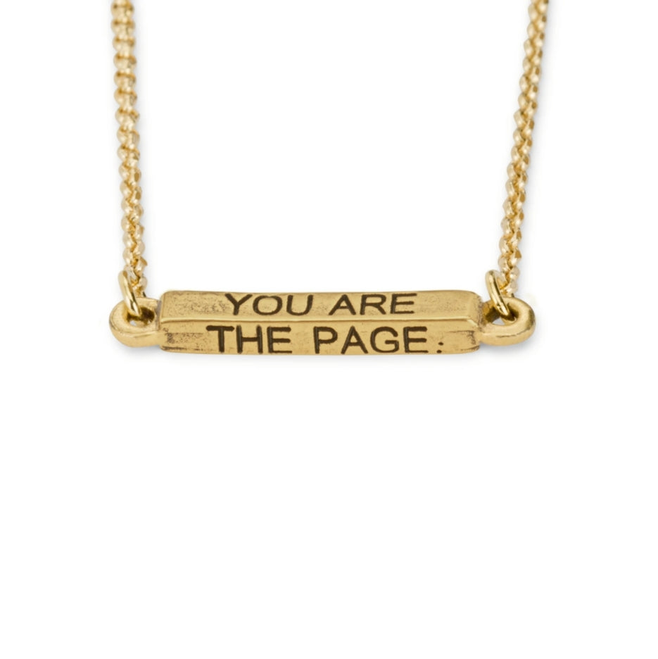 You Are The Page Necklace - Retired