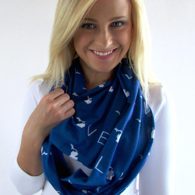 Michigan Infinity Scarf