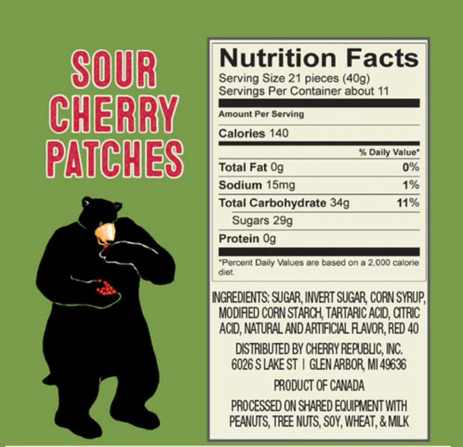 Ruby Red Sour Cherry Patches 8oz
