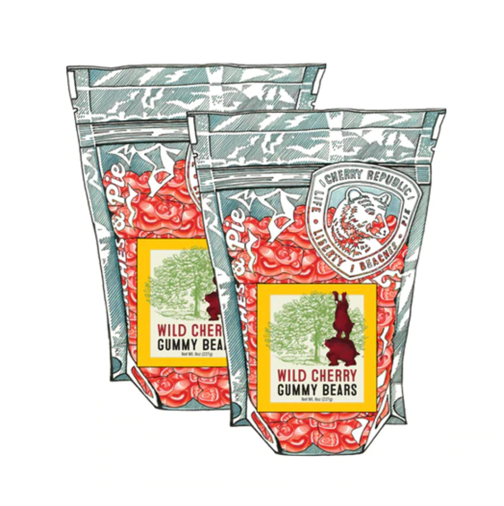 Wild Cherry Gummy Bears 8oz