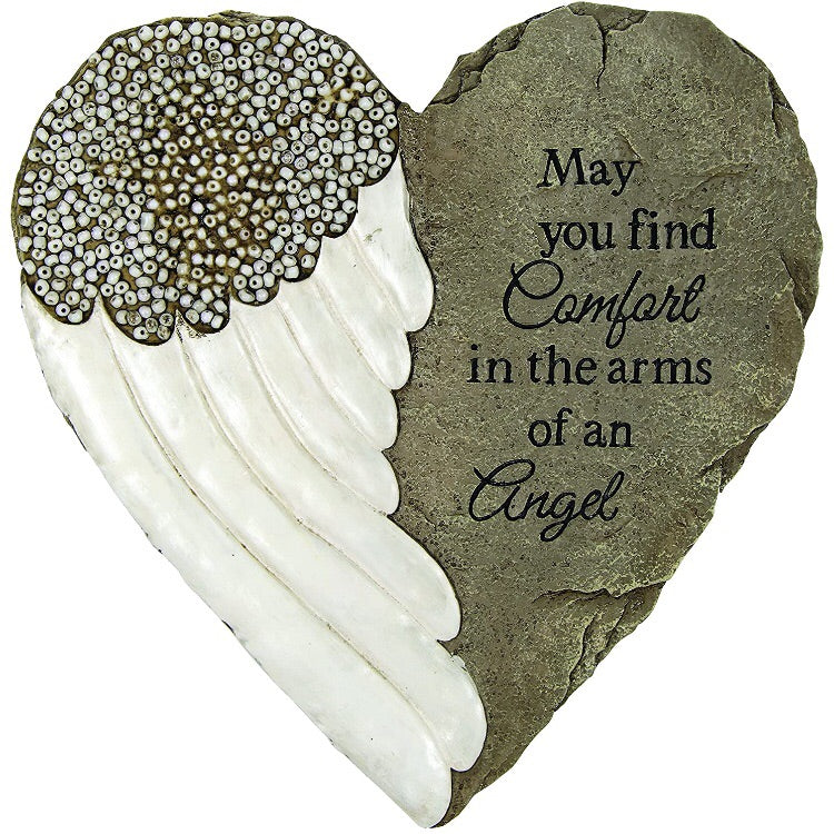 Arms of an Angel Beadwork Stepping Stone