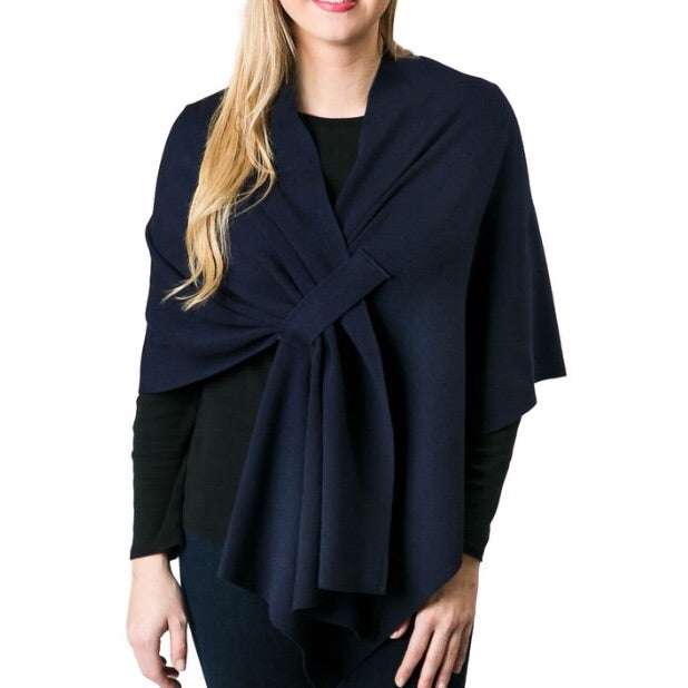 The Katie Knit Wrap Solid