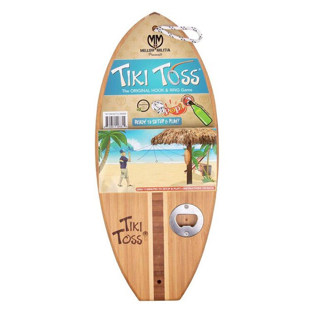 Tiki Toss Pop Bottle Opener Hook & Ring Game