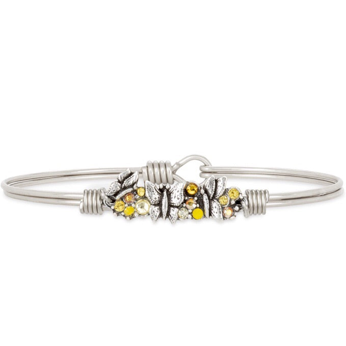 Butterfly Medley Bangle Bracelet