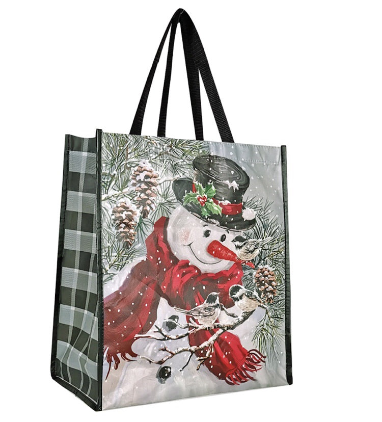 VIP Snowman & Chickadee Bag
