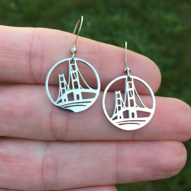 Michigan Circle Outline Earrings