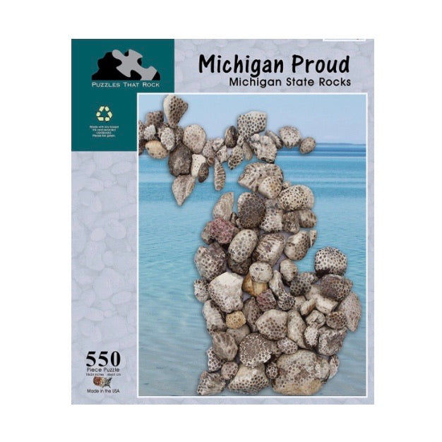 Michigan Proud MI State Rocks 550 pc Puzzle