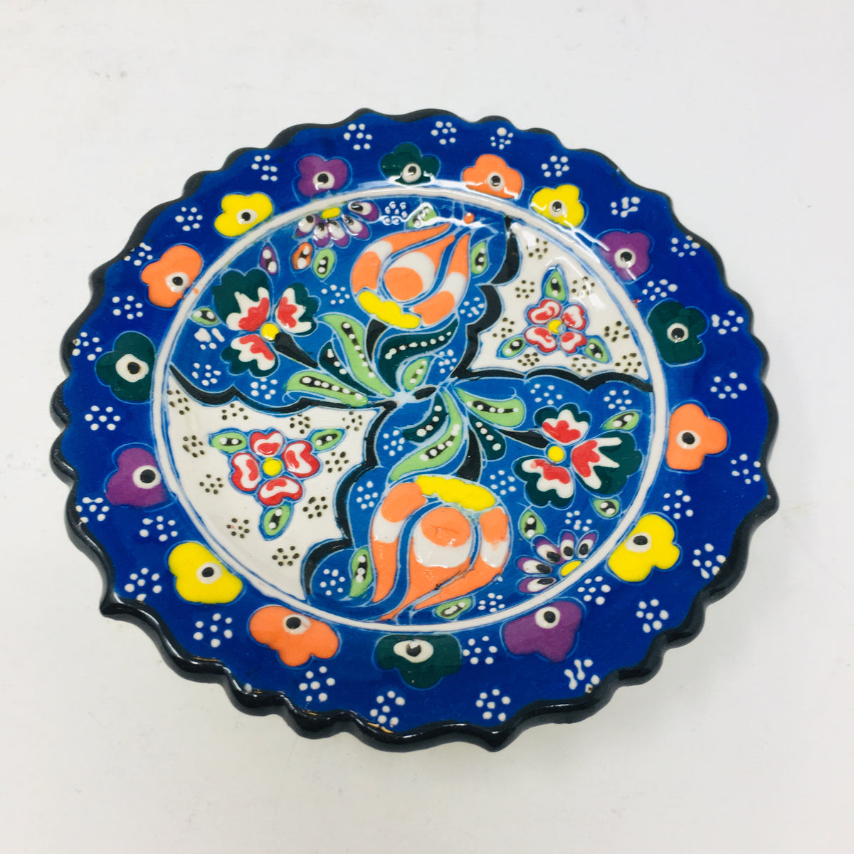 "5"" Embossed Round Plate"