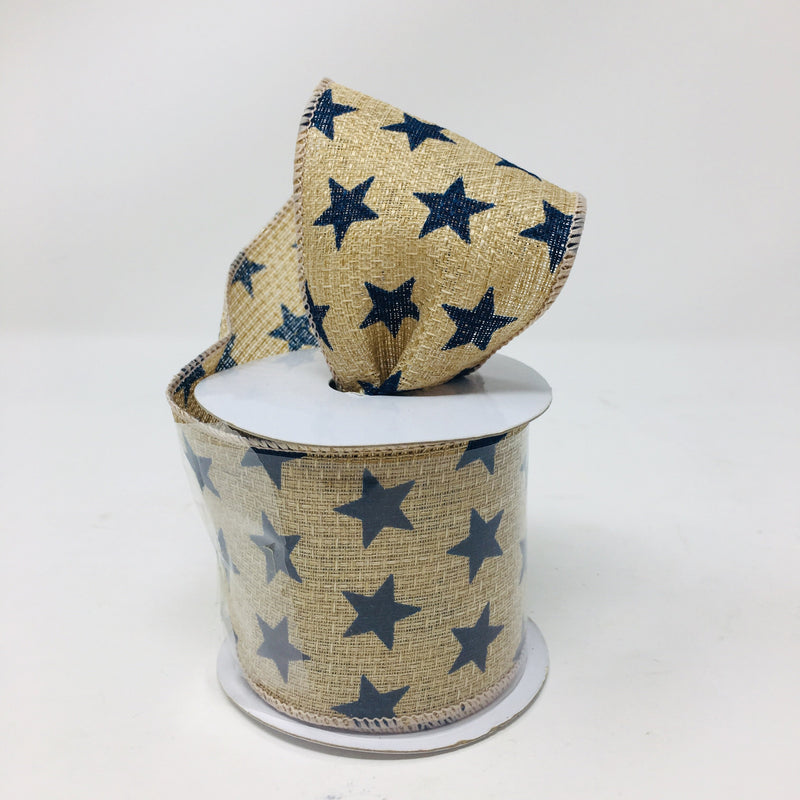 Patriotic burlap & denim ribbon