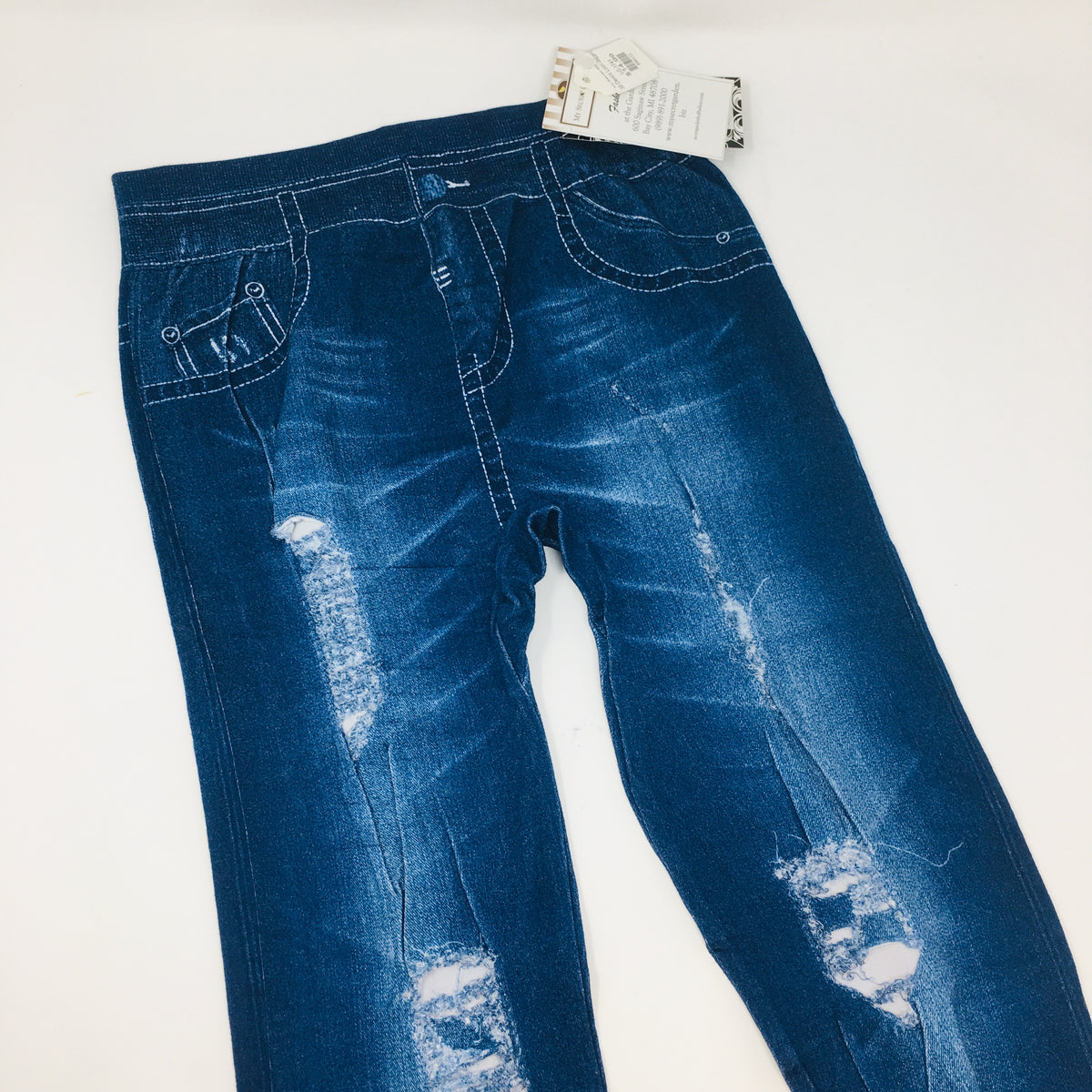 39 Demin Look Jeggings Distressed O/S