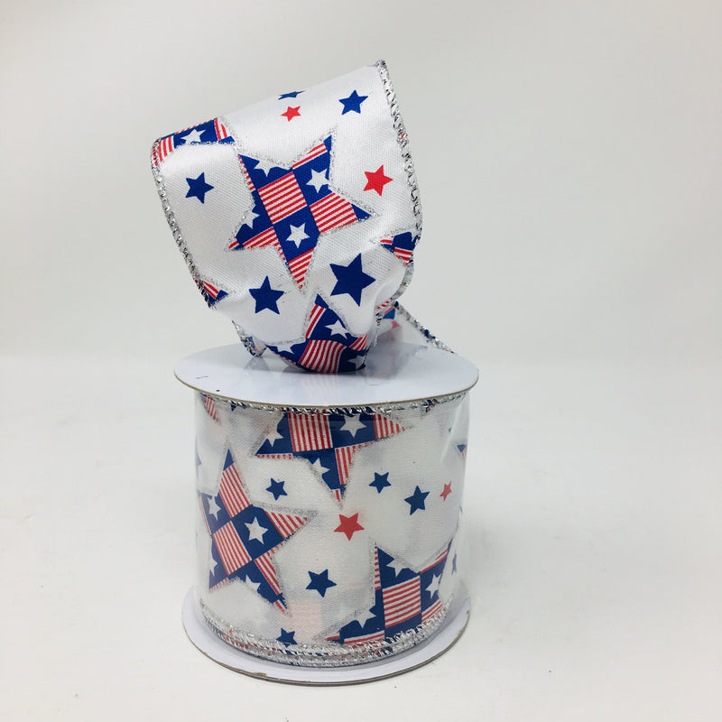 patriotic wire edged ribbon