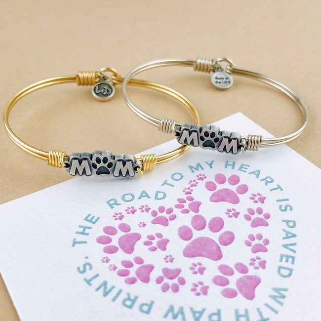 Fur Mom Bangle Bracelet