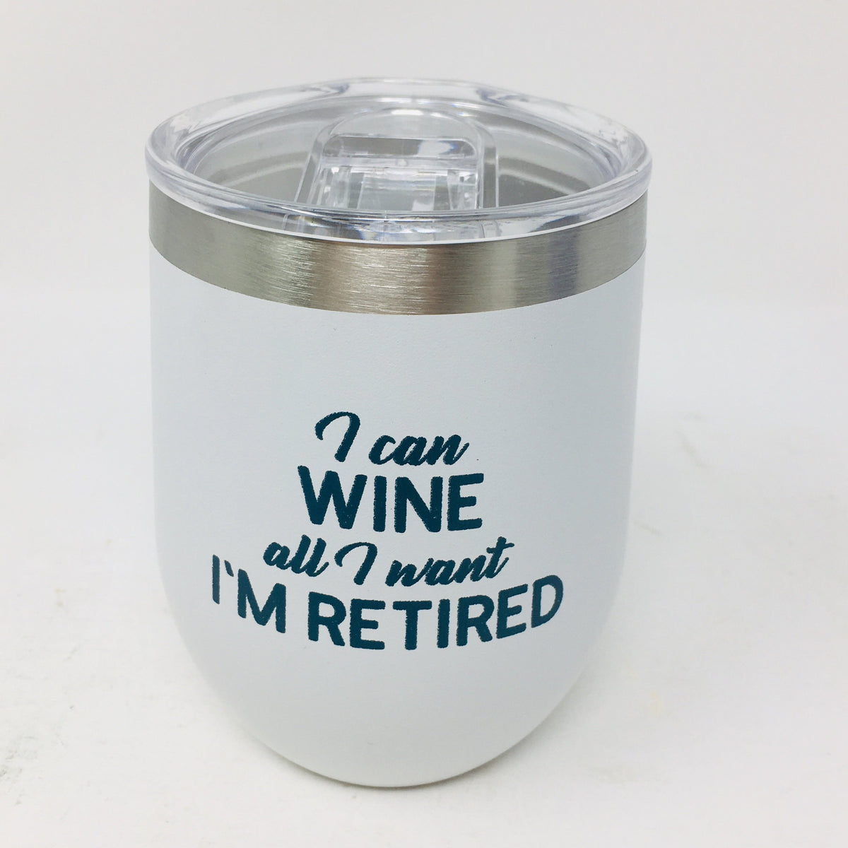 12 oz Stainless Stemless Wine Glass