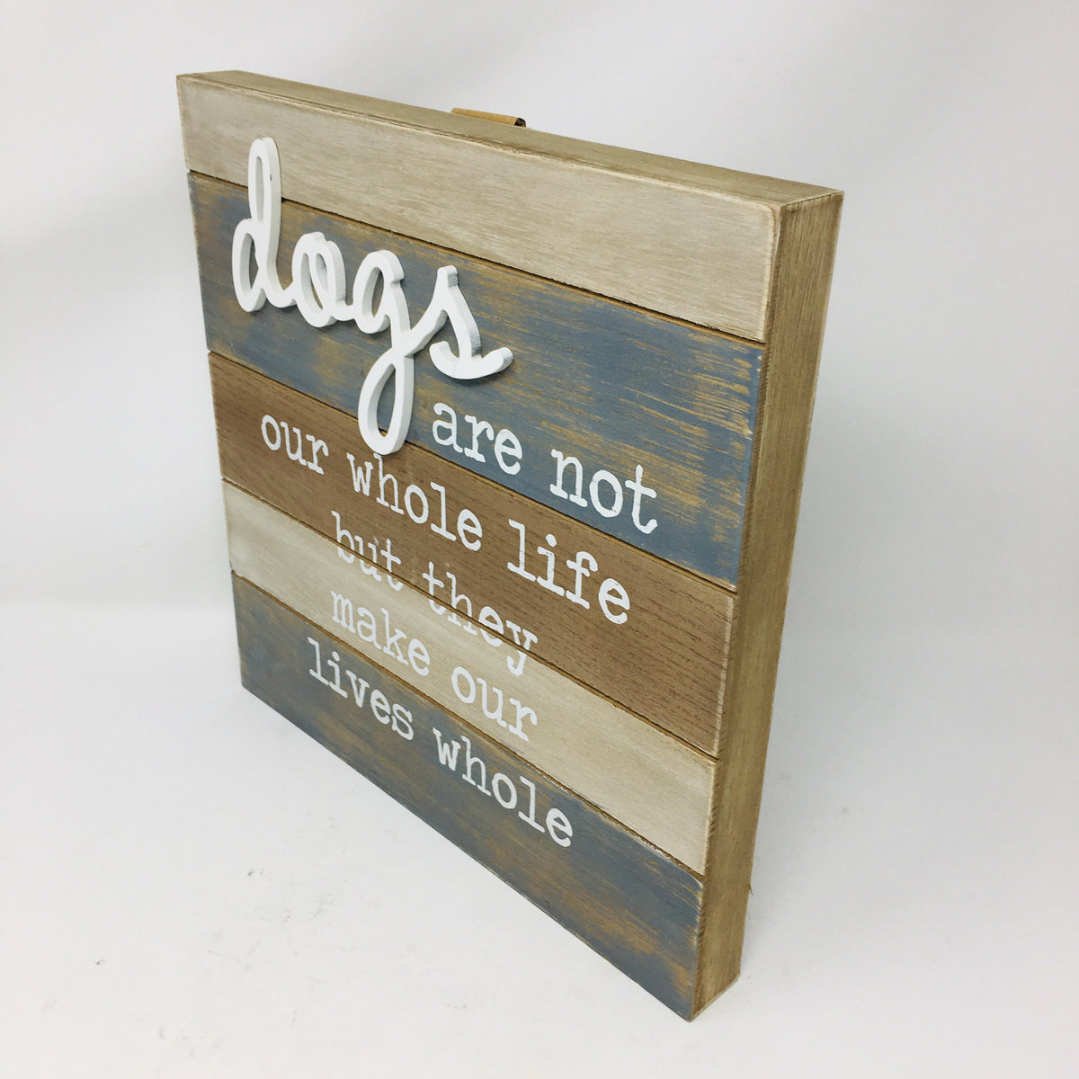 White Dog Wall Sign
