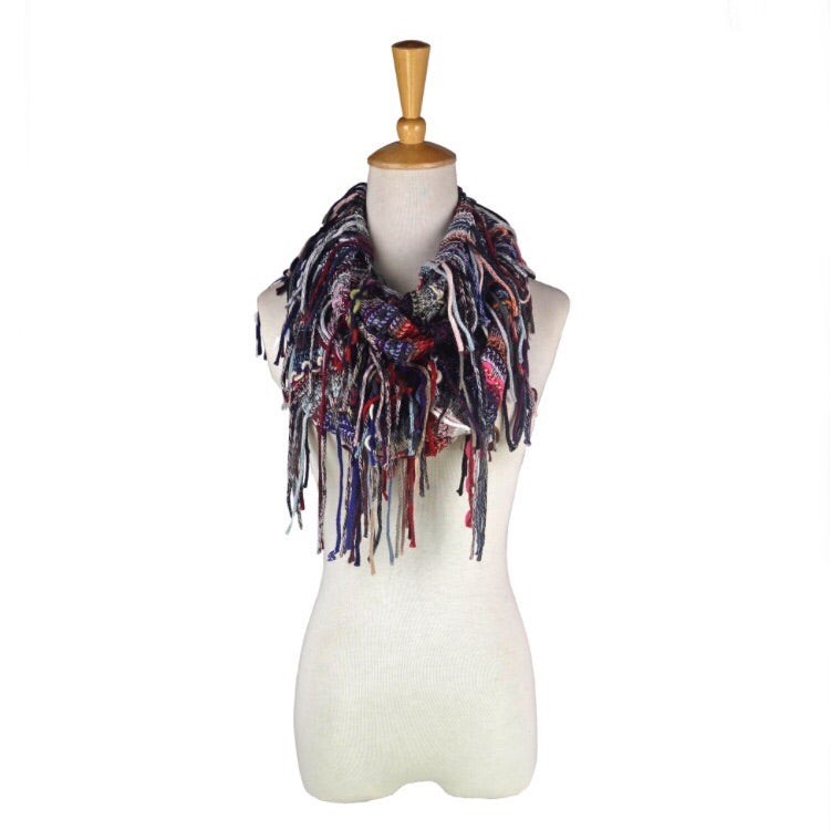 Giving Infinity Scarf w/ Fringe