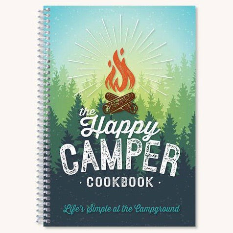 front cover of the spiral bound The Happy Camper cookbook