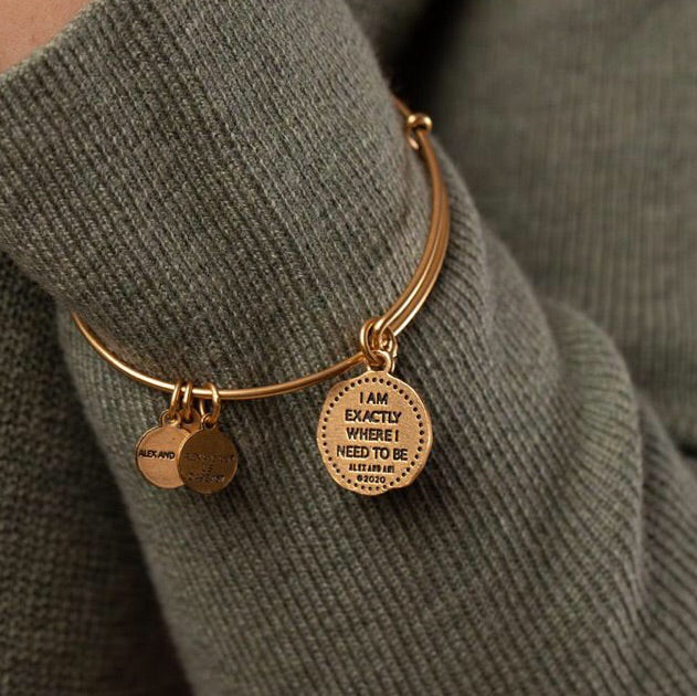 Path Of Life Molten Coin Charm Bangle