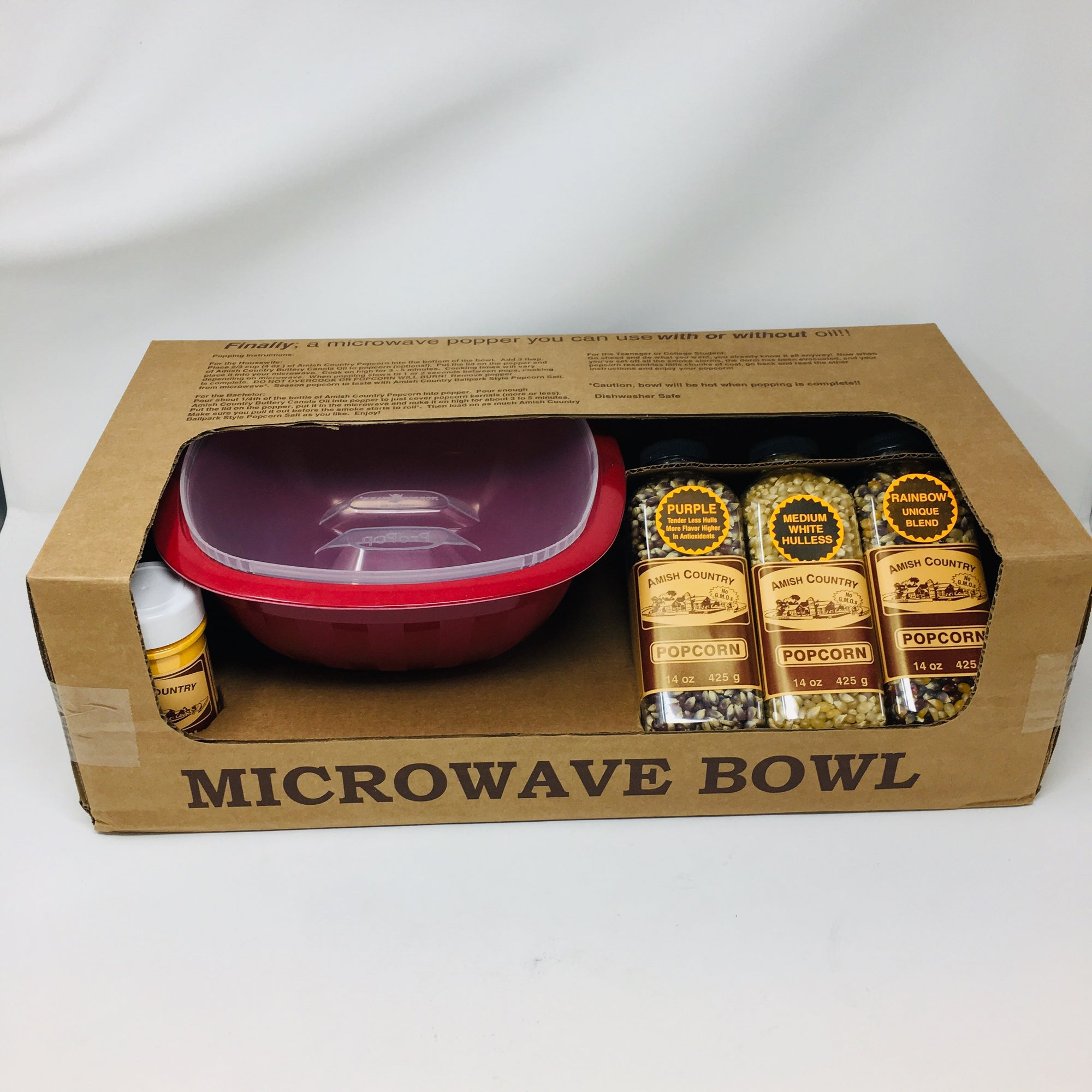Microwave Bowl Gift Box Red