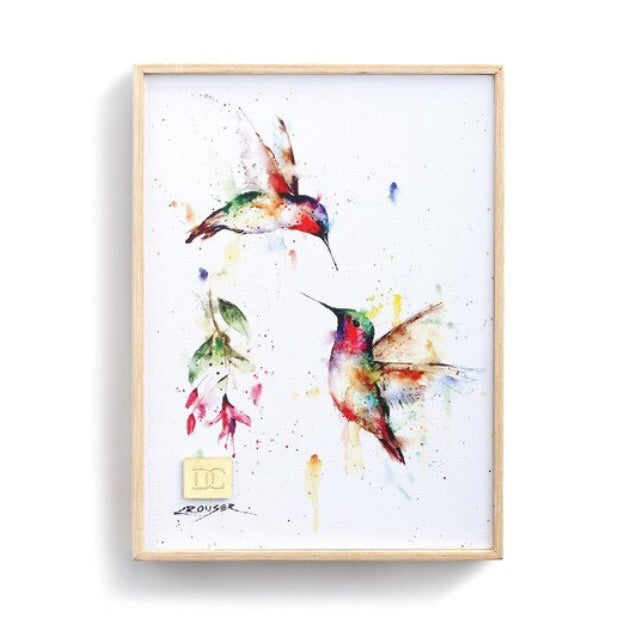 Summer Hummingbird 6x8 Wall Art