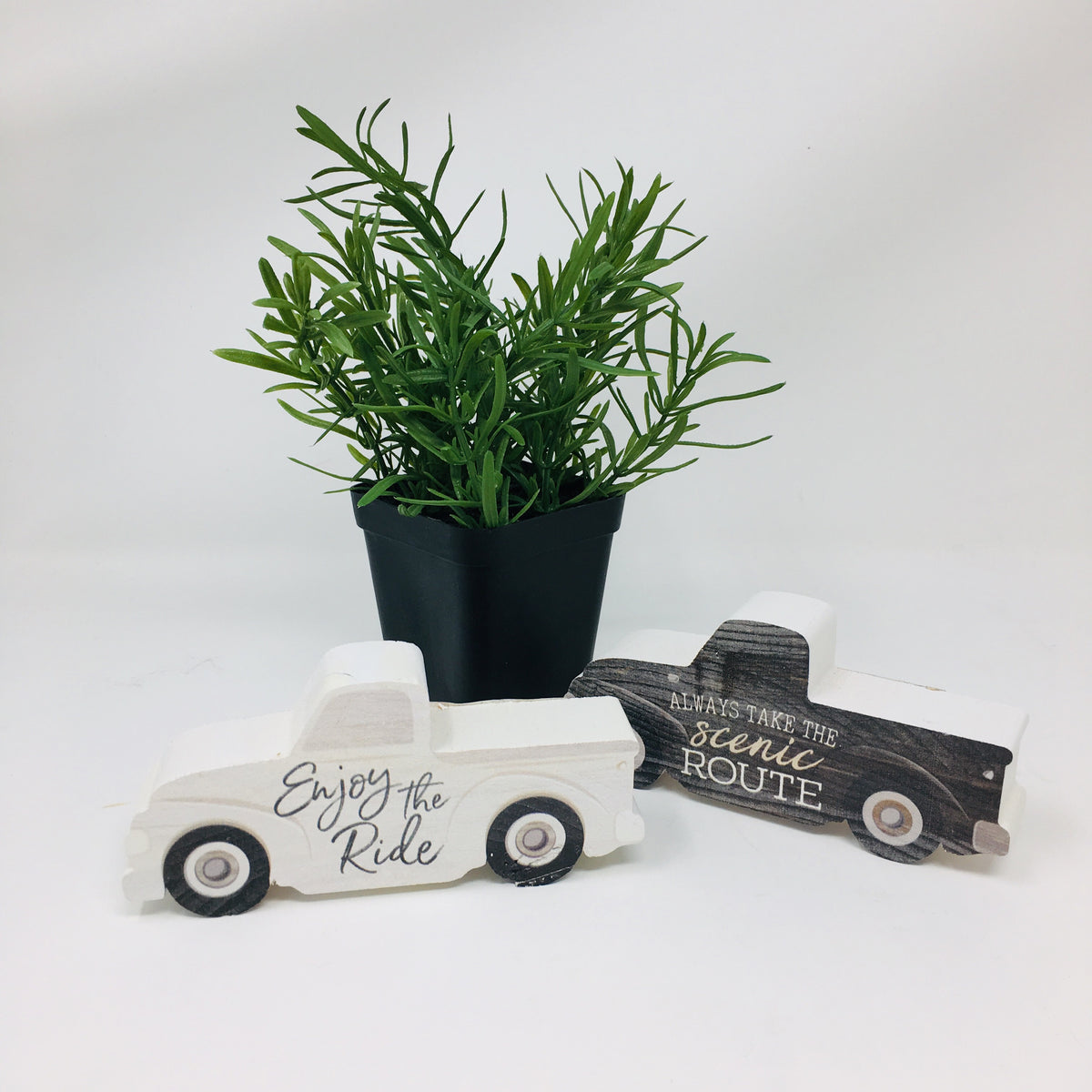 Small Wooden Truck & Camper Block Decor