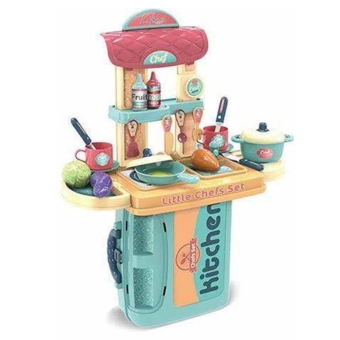 Chef Kitchen in a Case Playset