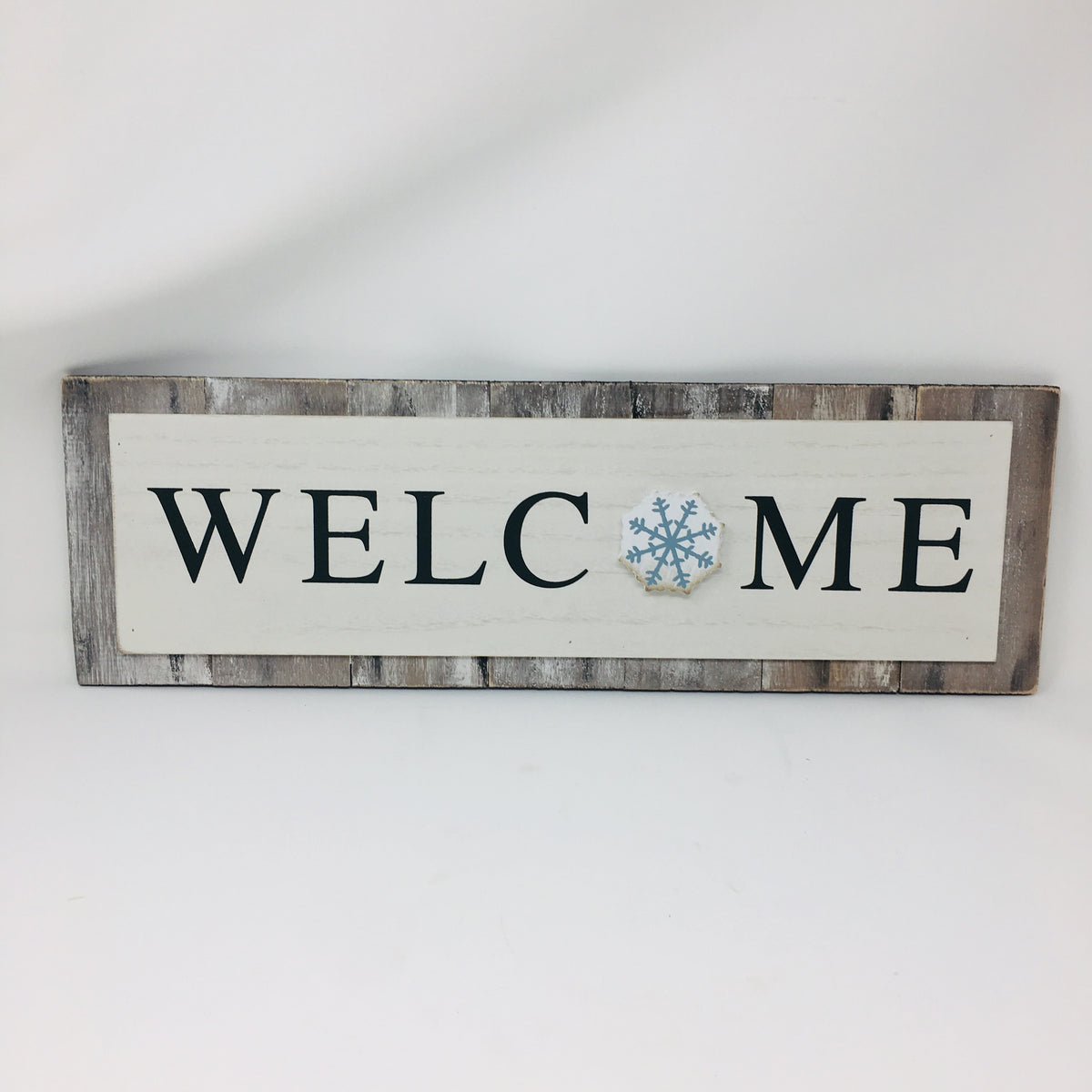 Wood Changing Seasons Welcome Sign