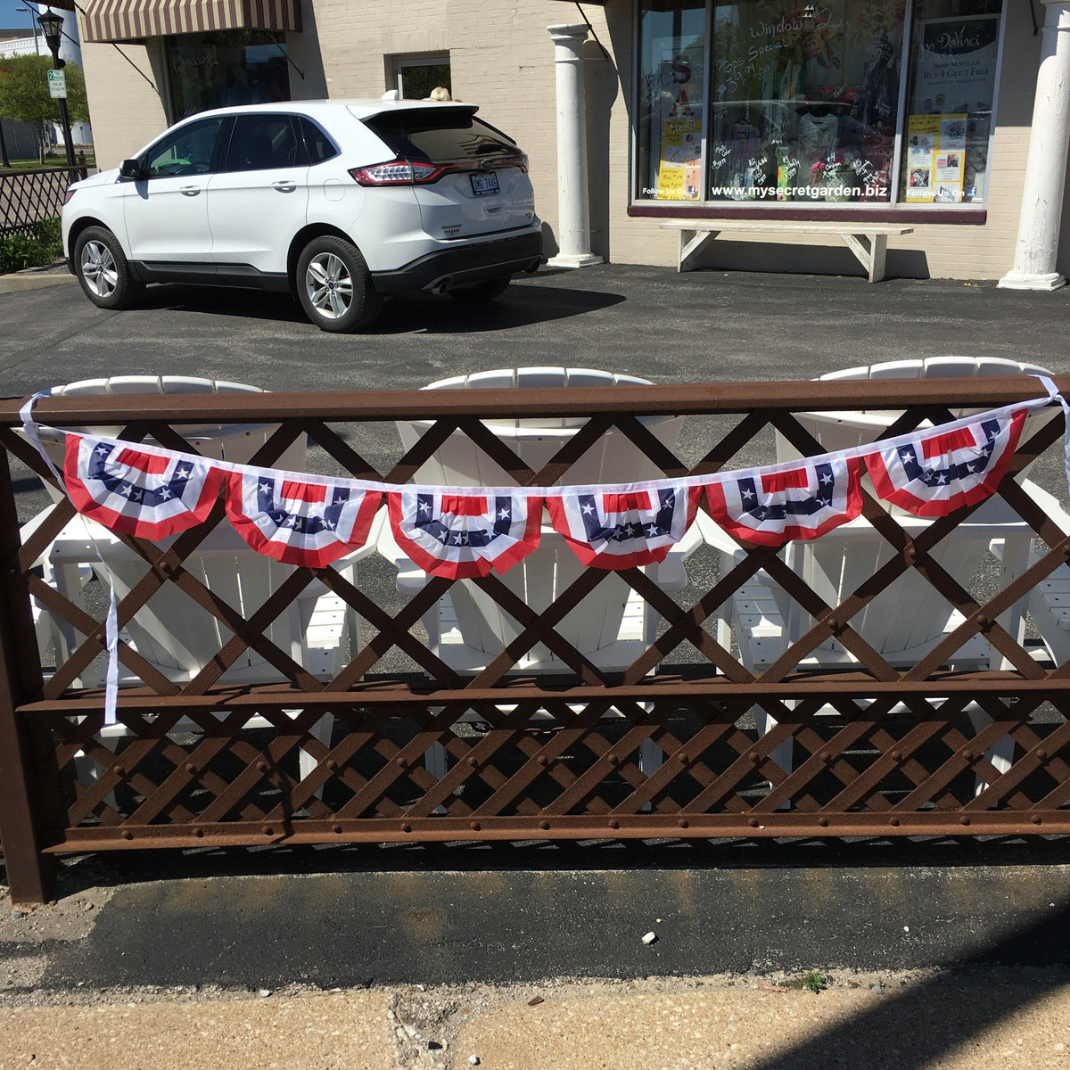 "6""high patriotic bunting garland"