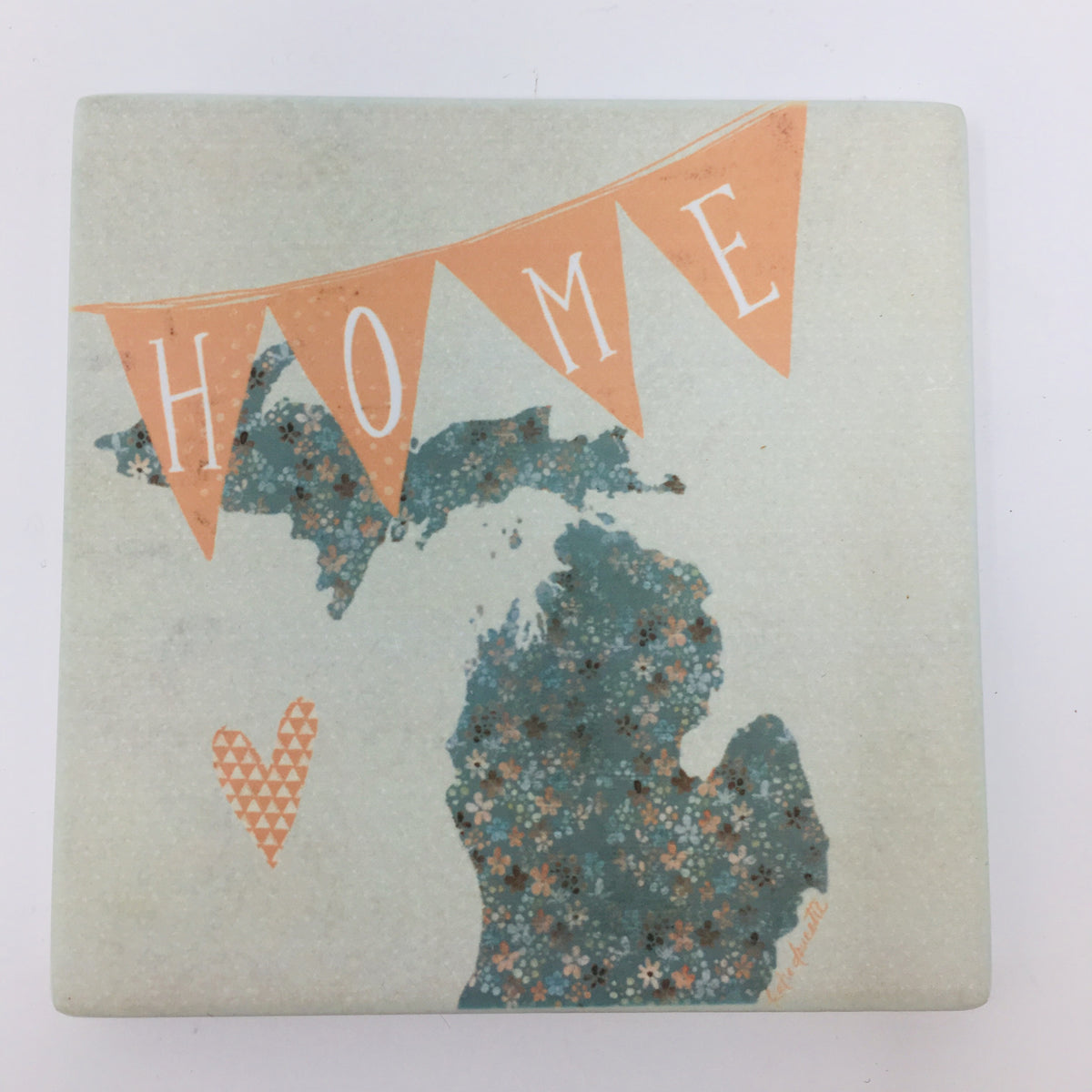 Polka Dot Mitten Michigan Coasters