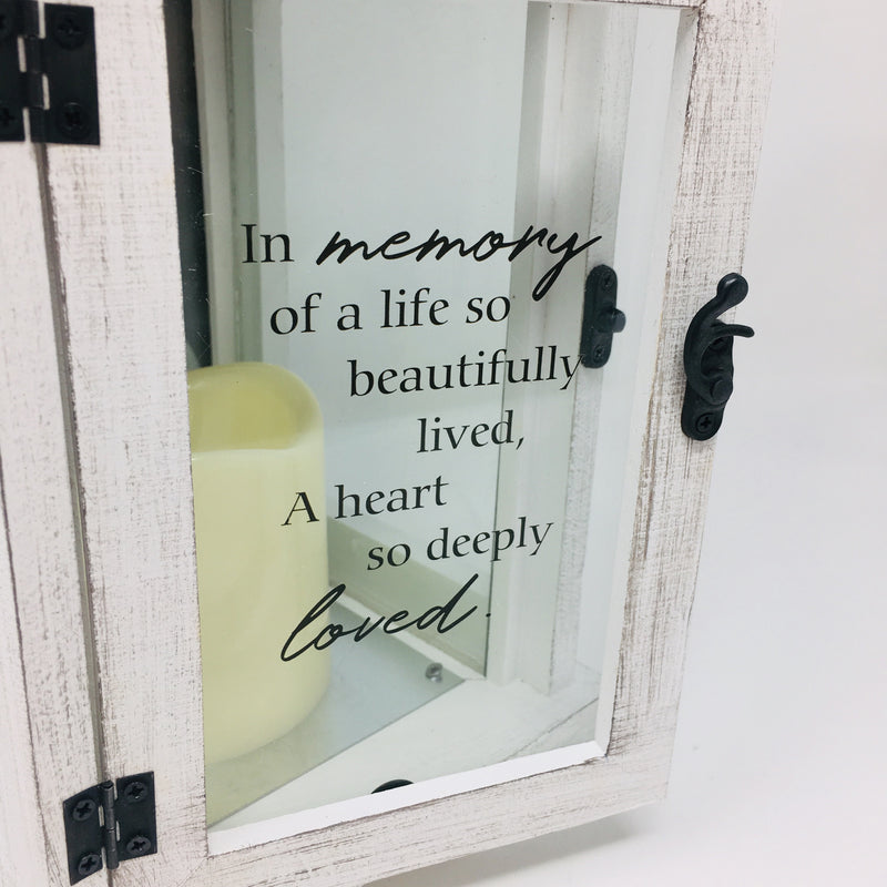 In Memory Of Picture Frame Lantern 13.5""