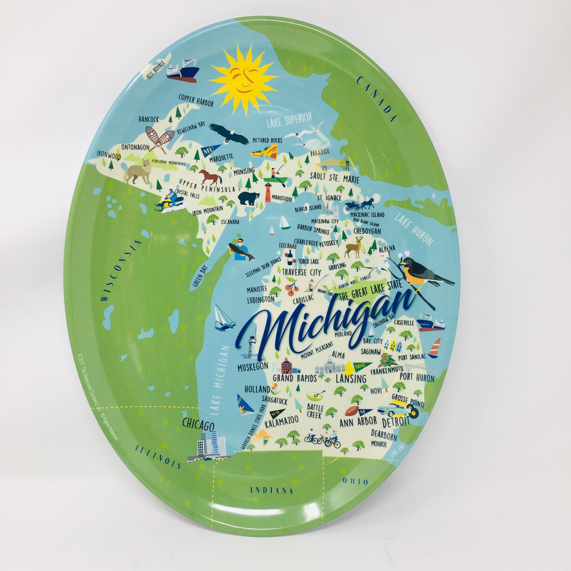 Michigan Melamine Platter 12""