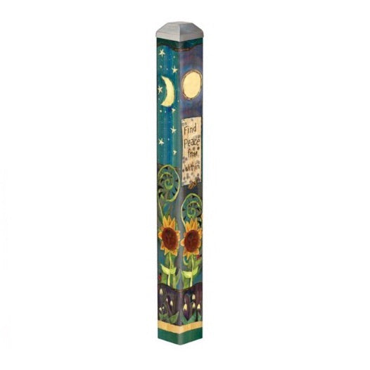 "16"" Square Mini Art Pole w/ Metal Top"