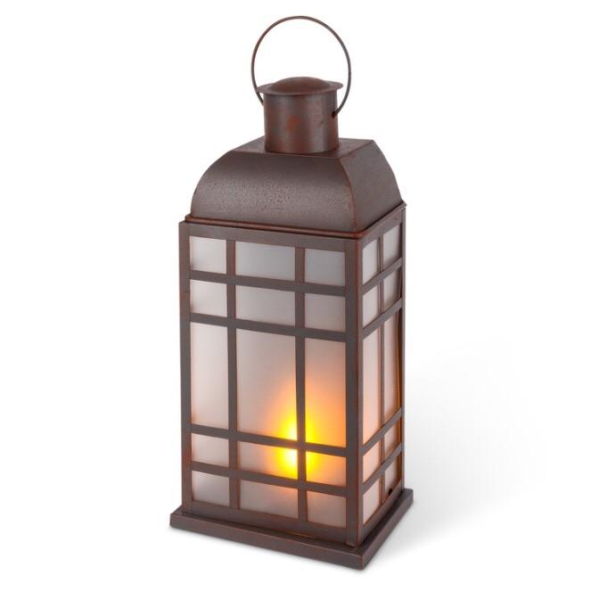 Fireglow Brown Wall Sconce Lantern