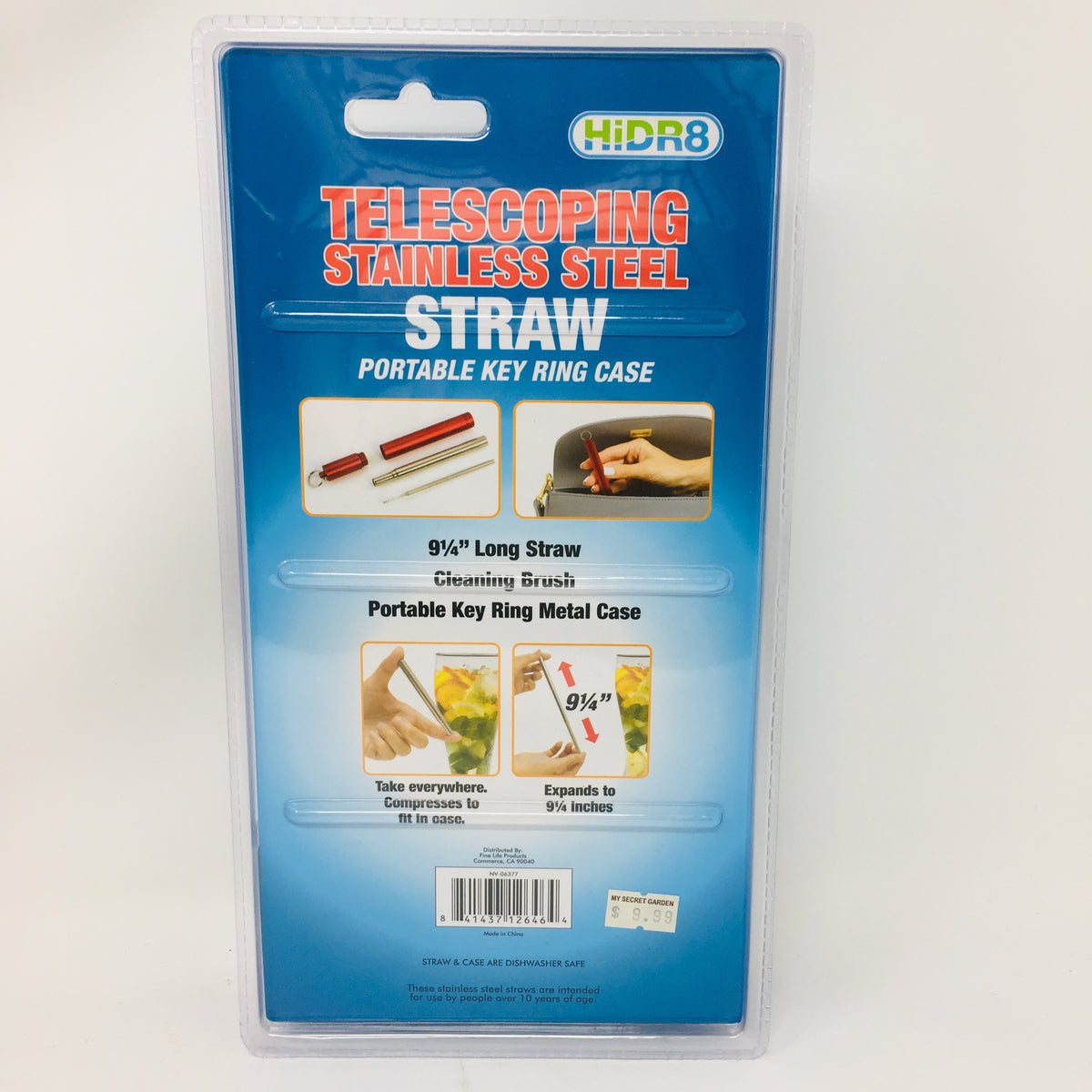 Telescoping Stainless Steel Straw