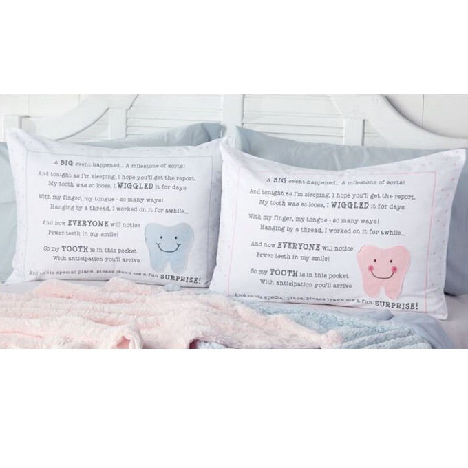 Tooth Fairy Pillowcase with Pocket