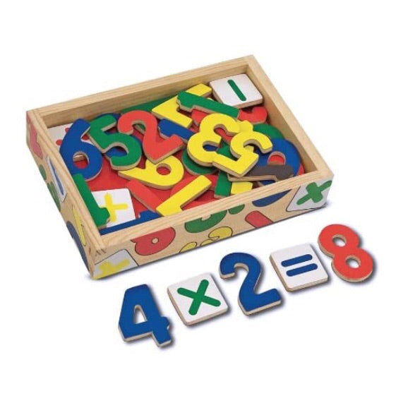 Numbers Wooden Magnet Set